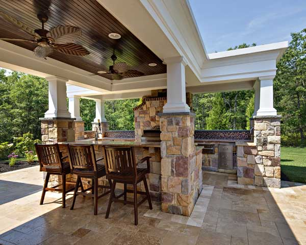 outdoor living space for memorial day bbq
