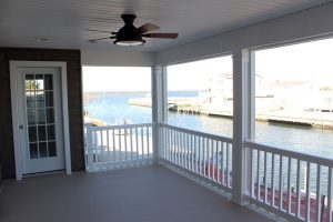 screened porch for new custom home on LBI Memorial Day in your new custom home on LBI