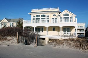 Bayfront or beachfront homes on long beach island