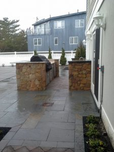 Outdoor living space for new custom homes