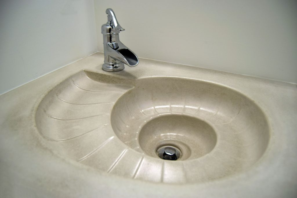 custom concrete sink and counter custom home long beach island