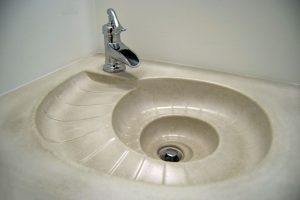 custom concrete sink and counter custom home long beach island