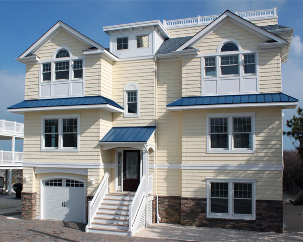 exterior building materials for custom homes on lbi
