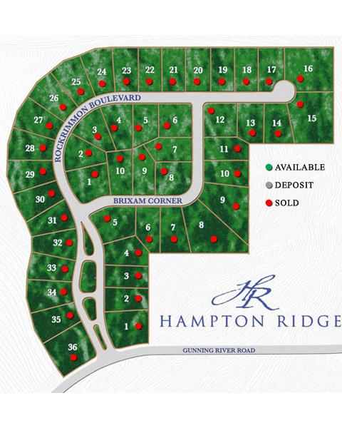 Hampton Ridge Site Plan by Stonehenge Building & Development