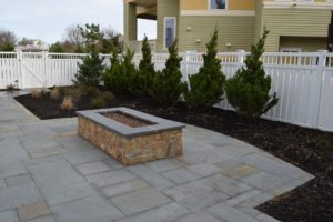 outdoor firepit custom homes on lbi Memorial Day in your new custom home on LBI