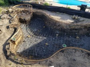 gunite pools for custom homes on Long Beach Island