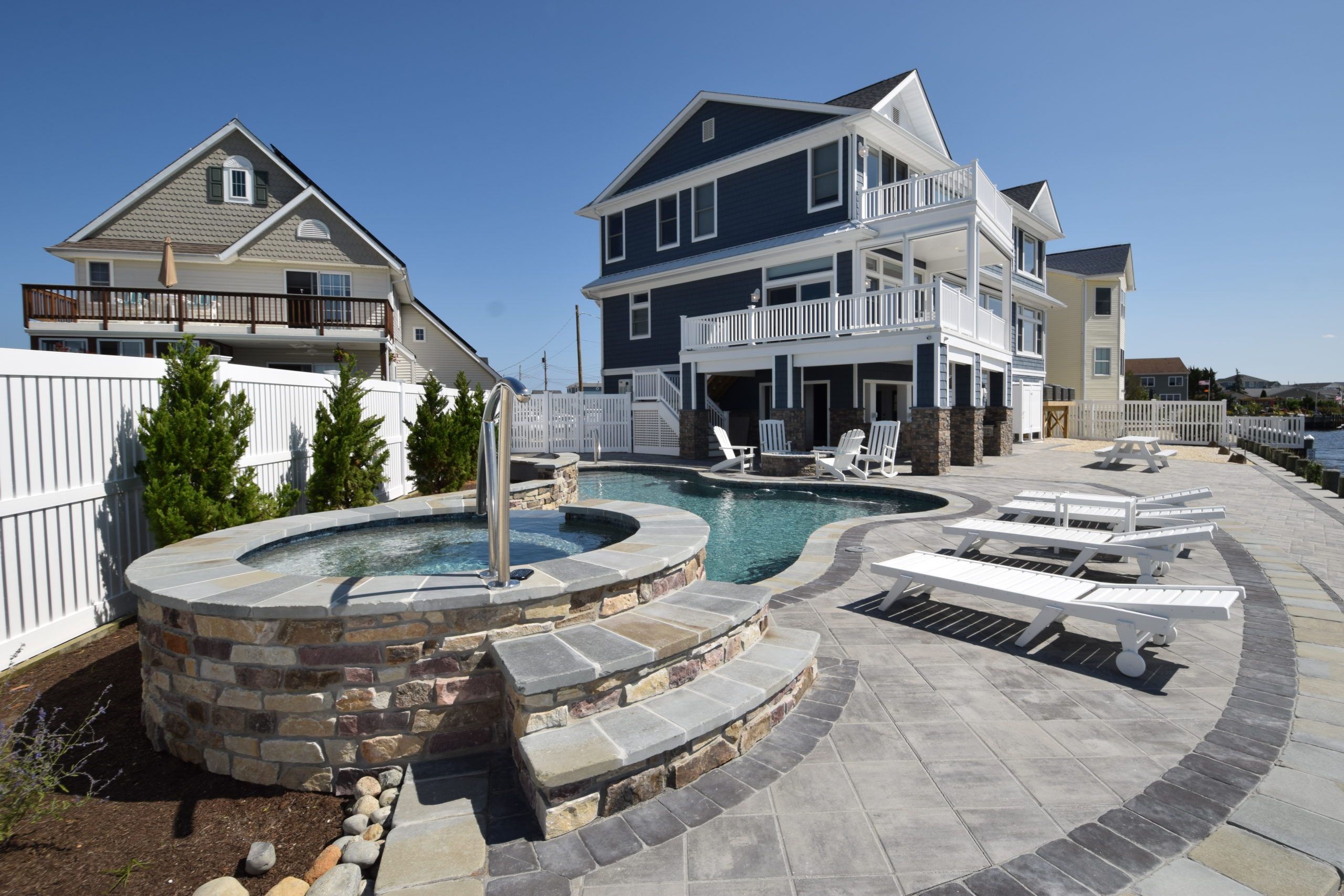 outdoor living custom homes lbi